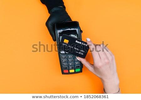 手 使い捨て 手袋 銀行 マシン ストックフォト © Giulio_Fornasar