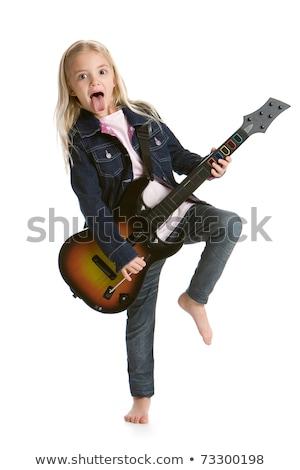 видеоигра гитаре подростку играет Постоянный Сток-фото © rcarner