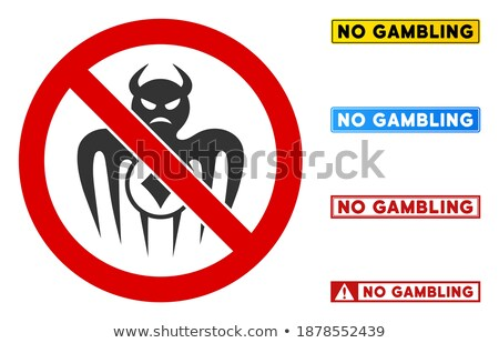 Gambling are not allowed, red forbidden sign on white Stock photo © evgeny89