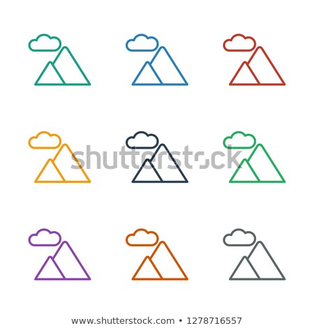 Hoog bergen terrein icon vector schets Stockfoto © pikepicture