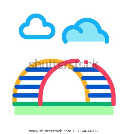 丘 はしご 虹 アイコン ベクトル ストックフォト © pikepicture