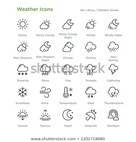 Lightning storm. Icon. Weather glyph vector illustration Stock photo © Imaagio