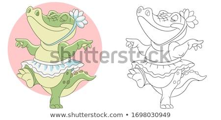 Crocodil animal desen animat carte de colorat Imagine de stoc © izakowski