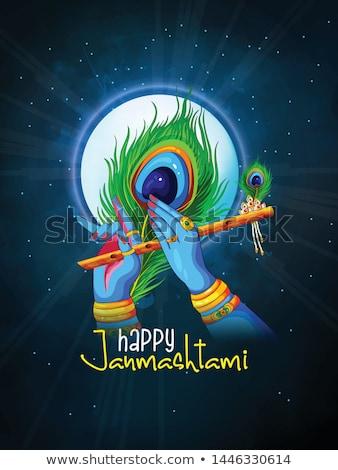 Krishna felice festival India illustrazione design Foto d'archivio © vectomart