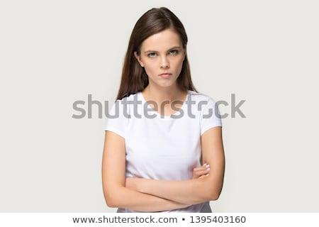 Angry teen girl stock photo © fahrner