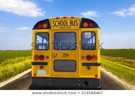 Powrót do szkoły znak autostrady zielone Chmura ulicy podpisania Zdjęcia stock © kbuntu