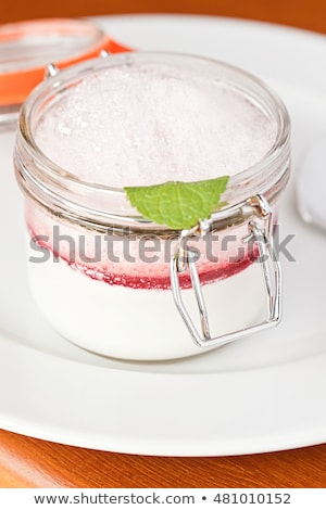 Rasberry mousse Stock photo © phila54