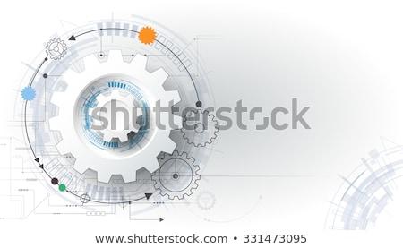 Witte 3D versnelling wiel technologie groep Stockfoto © FransysMaslo