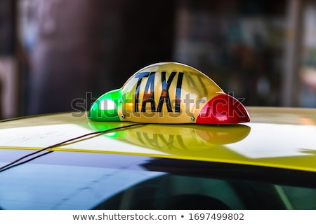 yellow cab in bucharest stock photo © razvanphotography