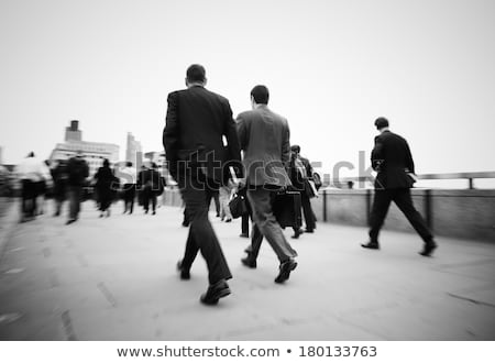 moving businessman in black suit Stock photo © Paha_L