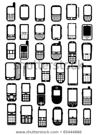 téléphone · portable · connexion · technologie · réflexion · tous - photo stock © fenton