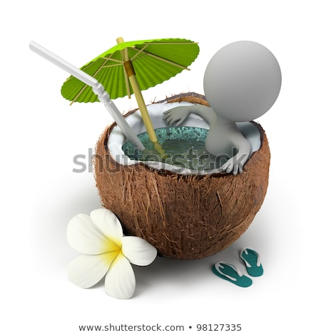 3d small people - umbrella stock photo © AnatolyM