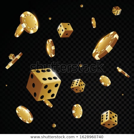 Casino chips succes dobbelstenen spel gokken chip Stockfoto © goce