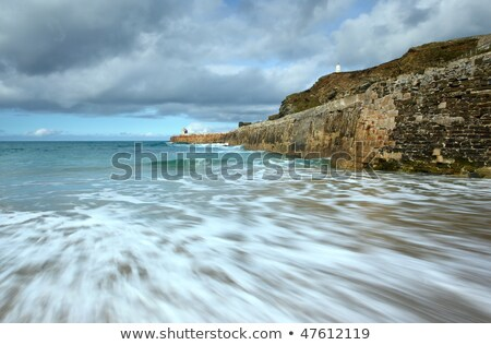 Sea motion long exposure, Portreath pier, Cornwall UK. Stock photo © latent