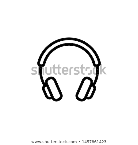 Stock photo: headphones icon