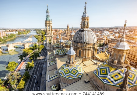 Our Lady of the Pillar Basilica-Cathedral in Zaragoza Stock photo © aladin66