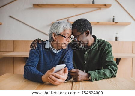 homosexual couple in restaurant stock photo © photography33