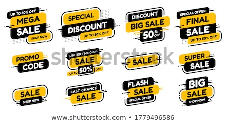 vector set of labels percent stock photo © imaster