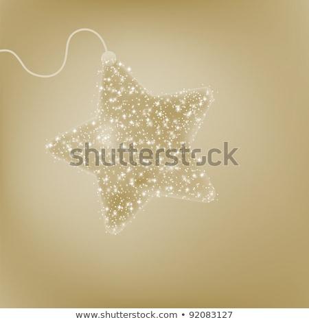 Postcard with a twinkling elegant star. EPS 8 Stock photo © beholdereye