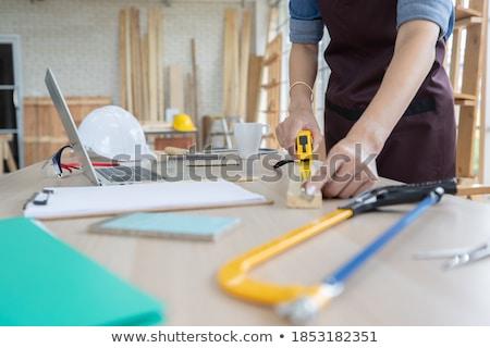 Nő csináld magad otthon munka tini munkás Stock fotó © photography33
