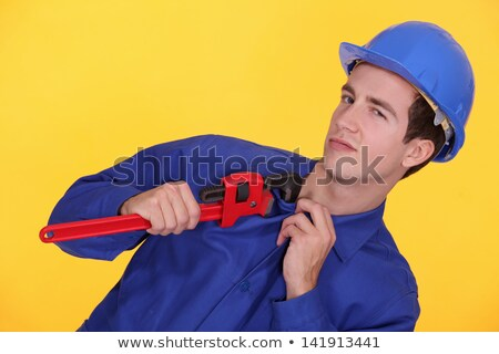 Uniforme coincé mâchoire pipe clé construction Photo stock © photography33