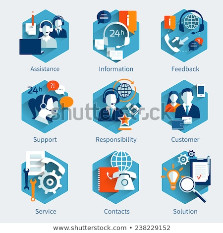 abstract call assist icon Stock photo © pathakdesigner