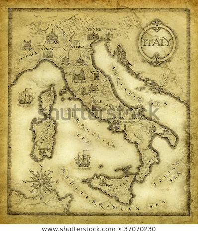 ancient Italy map Stock photo © pancaketom