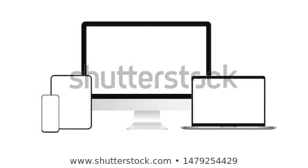 digital tablet pc set isolated on white stock photo © fotoscool