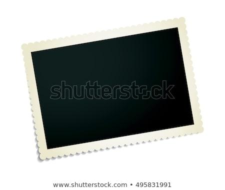 vektor · klasszikus · fotó · kártya · régi · fotó · gemkapocs - stock fotó © IMaster