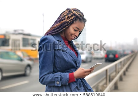 Teenage girl on tram Stock photo © photography33