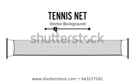 tenisz · net · lövés · bíróság · egészség - stock fotó © aremafoto