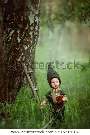 Gyerek manó aranyos terv nap rajz Stock fotó © indiwarm