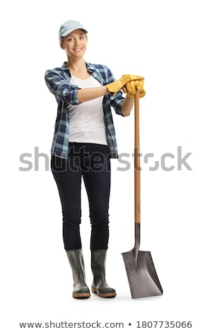 Woman carrying spade Stock photo © photography33