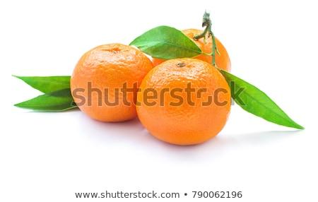 friss · mandarin · gyümölcslé · szerető · dzsúz · szalmaszál - stock fotó © veralub