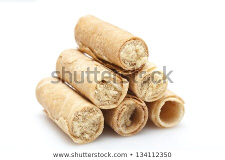 hong kong cake roll with pork inside on white background stock photo © kawing921