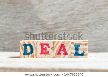 hot deal   letters and block stock photo © marinini