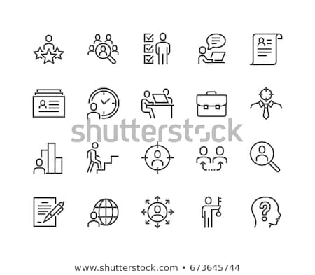 head icon set, vector Stock photo © beaubelle