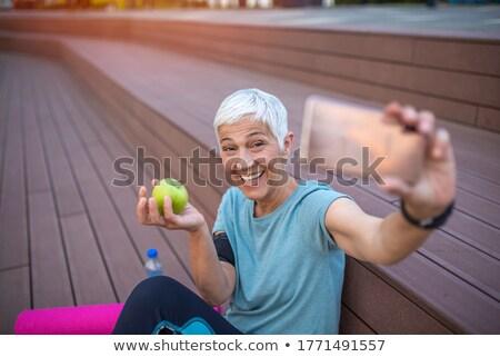 uygunluk · kadın · elma · beyaz · gıda - stok fotoğraf © CandyboxPhoto