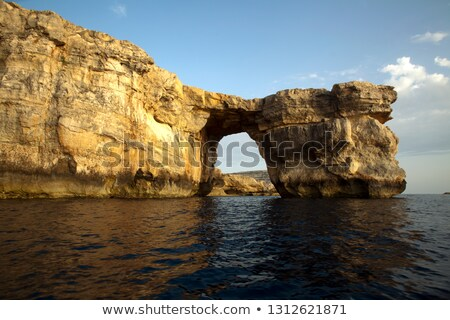 The famous Azure Window just off the coasts of Malta and Gozo.   Stock photo © pixelmemoirs
