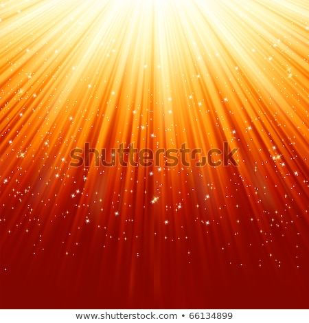 Stars and snowflakes on red golden. EPS 8 Stock photo © beholdereye