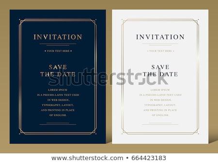luksusowe · karty · zaproszenie · wektora · piękna · kwiat - zdjęcia stock © oblachko