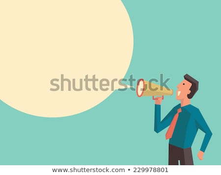 Woman with megaphone yelling at man in the office Stock photo © photography33