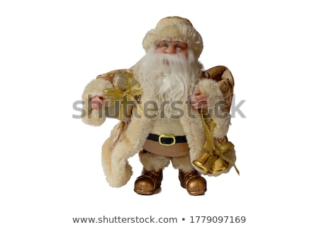 Santa Claus figurine and Christmas golden bells Stock photo © photosebia