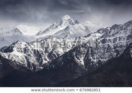 Stok fotoğraf: Dağ · manzara · Hindistan · gökyüzü · yol · çöl