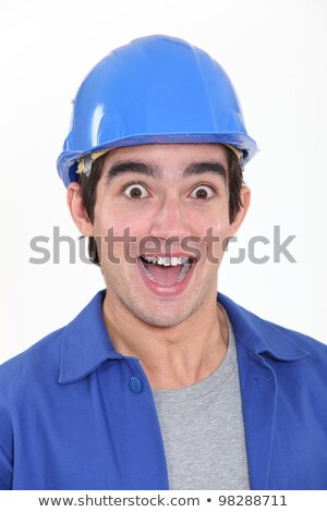 portrait of young tradesman playing the fool stock photo © photography33