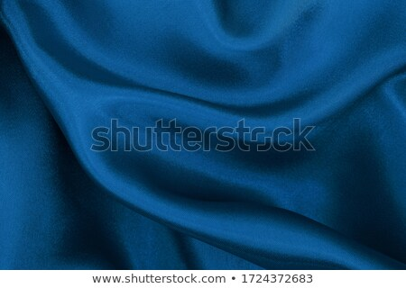 creased blue fabric background stock photo © thp