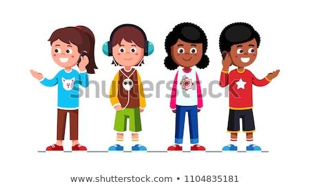 girl in headphones 4 stock photo © choreograph