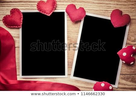 Immediato foto due cuori rosso vetro Foto d'archivio © neirfy
