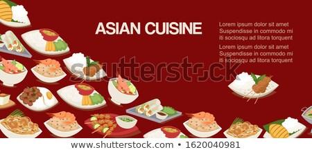 disznóhús · zöldség · japán · étel · nyár · vacsora · tészta - stock fotó © moses