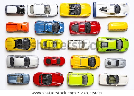 Foto stock: Brinquedo · carros · carro · estacionamento · branco · natureza